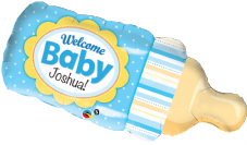 Welcome Baby Bottle Blue Super Shape Foil Balloon